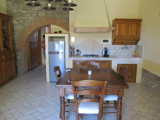 Gualdo del Re: Küche/Wohnbereich