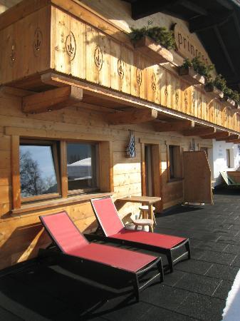 Hotel Princess Bergfrieden: Een mega balkon op de eerste etage