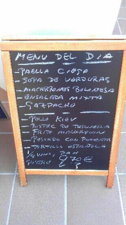 Meson Son Caliu: example menu del dia