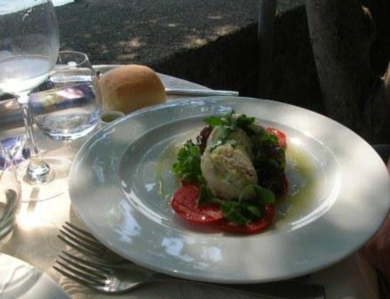 Hotel Gardenia al Lago: Pike mousse on Tomato carpaccio