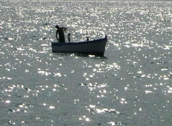 Hotel Gardenia al Lago: Fishing on the lake