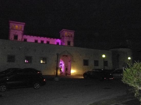 Vinoteka Brda: the castle at night