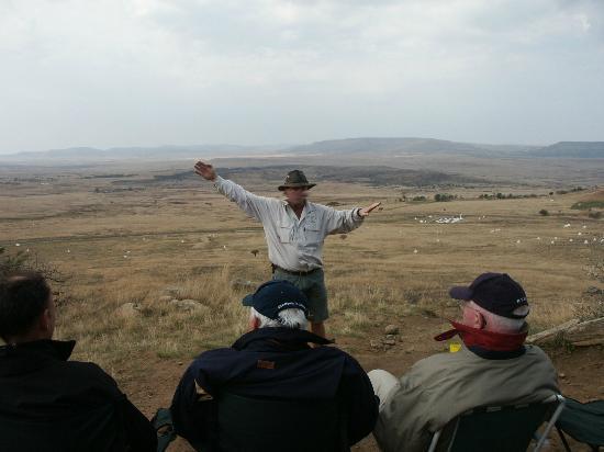 Isandlwana Battlefield: The Story of Isandlwana, overlooking the battlefield