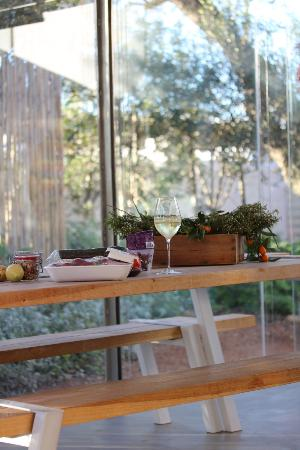 Babylonstoren: out kitchen/dining area