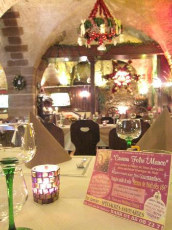 Restaurant Caveau Folie Marco: Déco Noël