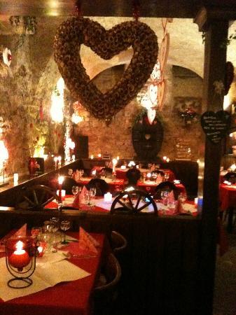 Restaurant Caveau Folie Marco: Déco Saint Valentin