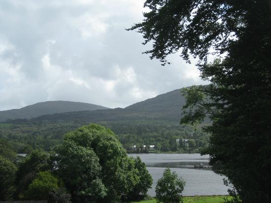 Park Hotel Kenmare: back view from room at hotel - to lake and beyond
