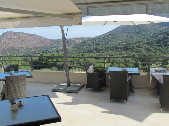 Cas'Anna Lidia : vue panoramique terrasse petits dej
