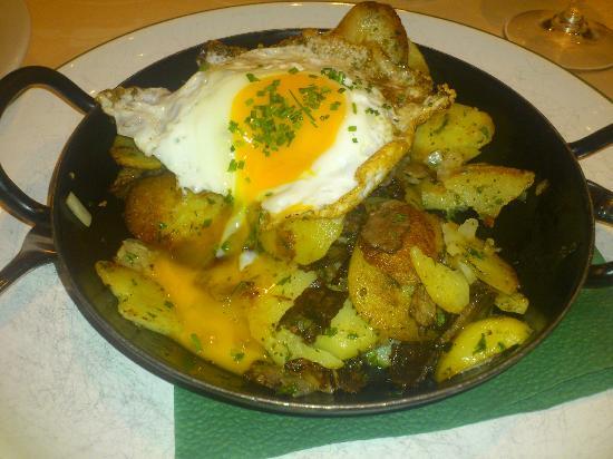 Weisses Rössl Restaurant: (Half eaten) beef and potato rosti