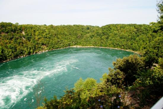 Niagara Gorge Trail: View of Whirlpool from the top of the trail.