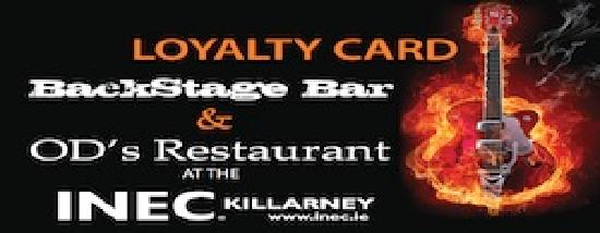 OD's Restaurant : Introducing the new Backstage Bar and OD's Restaurant loyalty card! Earn points for your custom