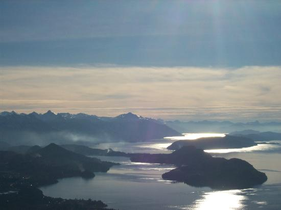 San Carlos de Bariloche, Argentyna: Lago nahuel Huapi desde el cerro Otto