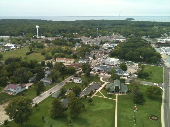 Perry's Victory & International Peace Memorial: View of the island from the top of the tower