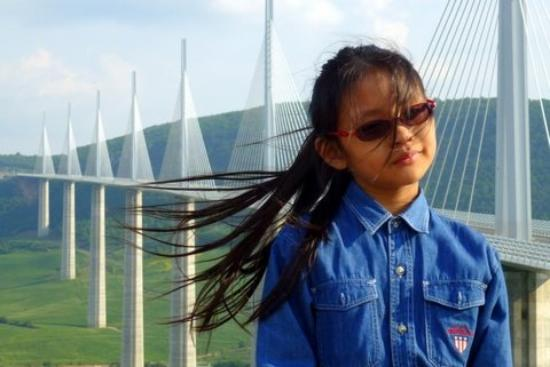 Viaduc de Millau : Sunshine on a breezy summer's day @ Millau Viaduct on A75, France. A magical moment in France! M