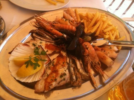 Restaurant Knezgrad: Fischplatte für zwei
