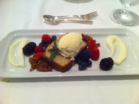 Westglow Resort & Spa: Sumac Pound Cake.