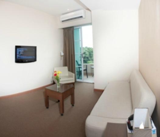Central Park Hotel: Junior Suite - Sofa Cama y Balcon con vista a la montaña