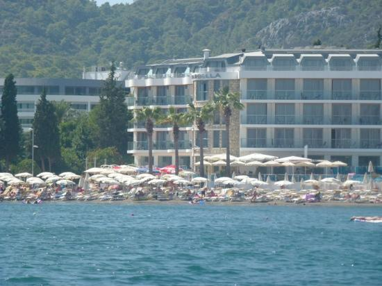 Hotel Marbella from taxi boat