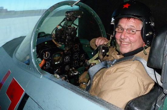 Top Gun Flight Simulator Centre: one happy pilot