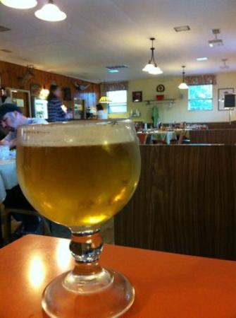 Jack's Steak House: A schooner of ice cold beer to cheer you.