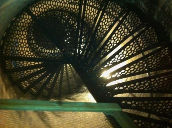 Pointe aux Barques Lighthouse: cool view from below... like the nautilus