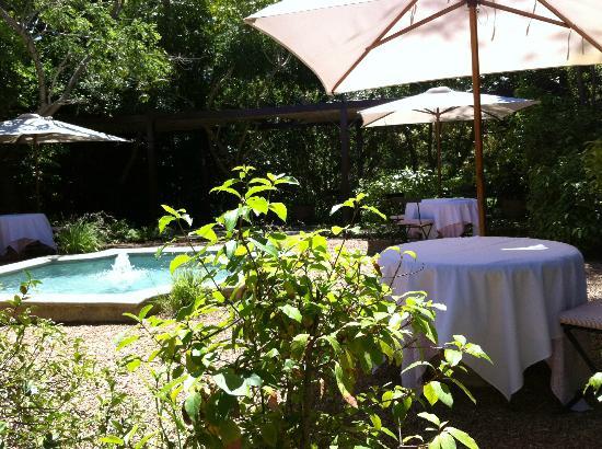 La Colombe: The garden fountain
