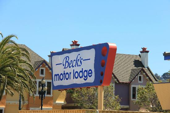 Beck's Motor Lodge: Enseigne