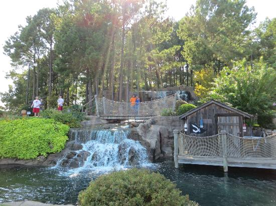 Pirate's Cove Adventure Golf : Waterfalls setup at Adventure Golf
