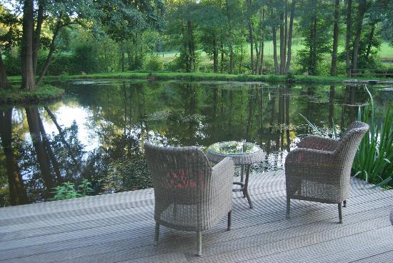 Landgasthaus St. Urban: Blick von der Terasse auf den zauberhaften See