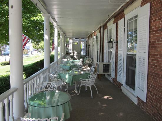 Middlebury Inn: le balcon
