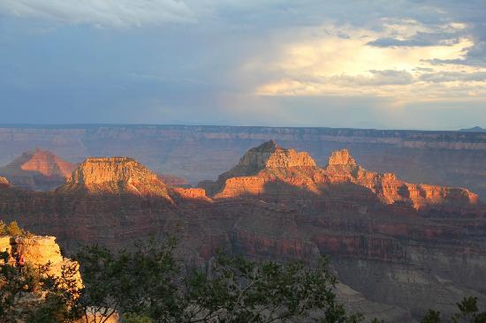 Grand Canyon Lodge - North Rim : vue depuis la terrasse