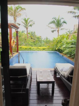 Conrad Sanya Haitang Bay: View from our Pool Villa