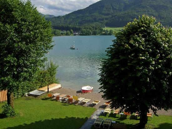 Hotel Seewinkel: view from the balcony to the lake