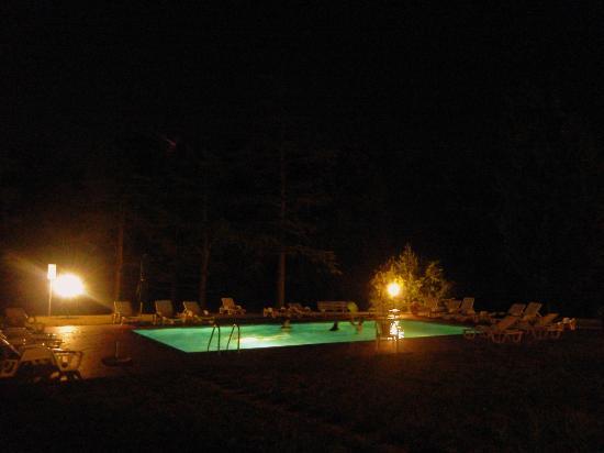 Agriturismo Tenute di Badia: Piscina, notturno