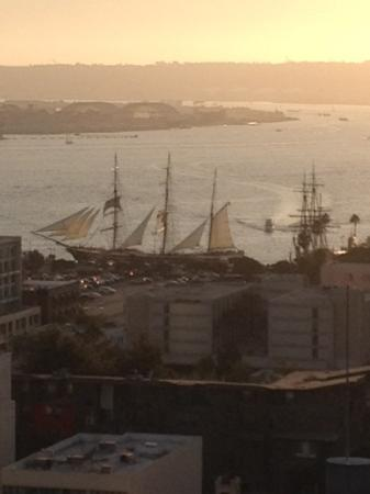 "Doubletree Hotel San Diego Downtown: dusk view of ""Star of India"""