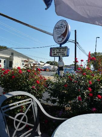 The Point Coffee House and Bake Shoppe: View from The Point's exterior dining patio