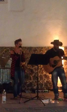 The Casbah : one of the live acts playing in the old town.