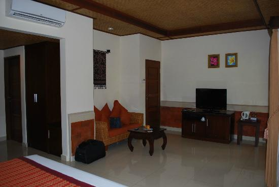 Sri Phala Resort & Villa: Second view of my room (windows along other side of room)