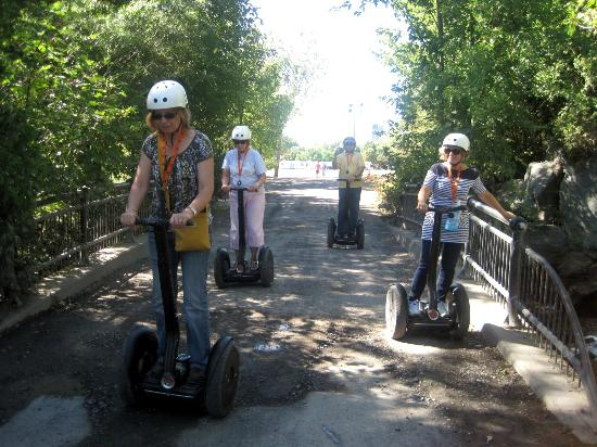 Montreal Segway Experience Center: Starting out - cautiously.