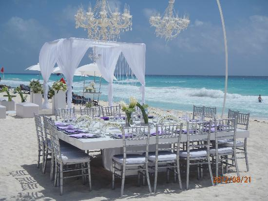 Secrets The Vine Cancun Another Beautiful Beach Wedding Setup