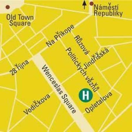 Hotel Yasmin: Map