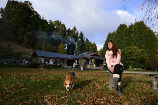 Waiorau Homestead: Bazil in the garden.