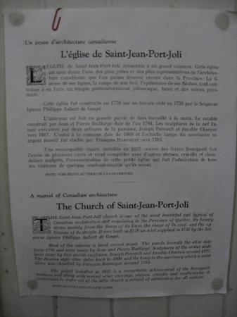 Eglise Saint-Jean-Port-Joli : Description de l'église