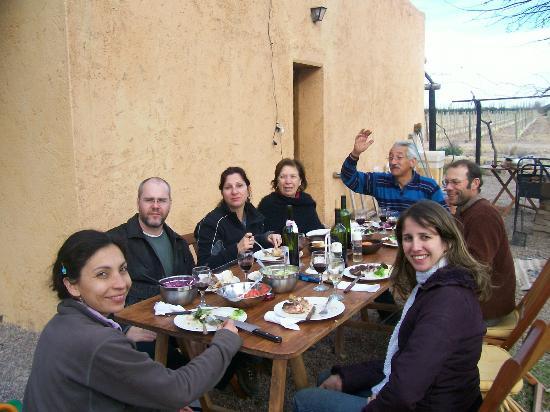 Posada Cavieres Wine Farm: almuerzo alegre