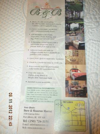 Inntorestin B&B Brochure