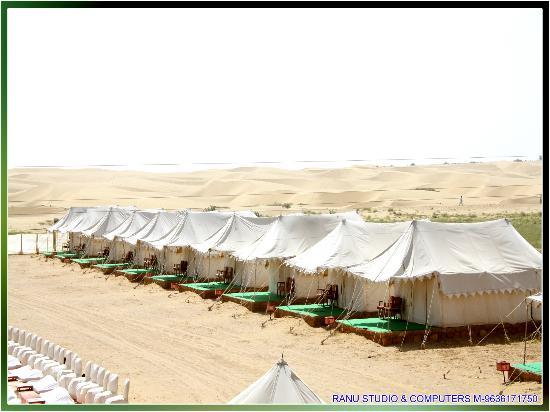 Mehar Adventure Safari Camp : Beautiful Golden Send Dunes View From Camp.