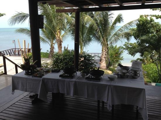‪‪Bhundhari Spa Resort & Villas Samui‬: thai cooking class with a view