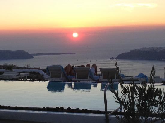 Santorini's Balcony: sunset from our room