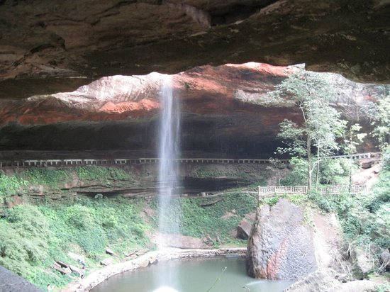 Muchuan County, China: Xiaodongfeihong - the waterfall
