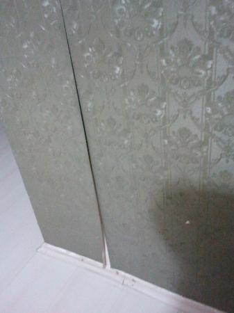 Antik Sofia Hotel: ripped wallpaper